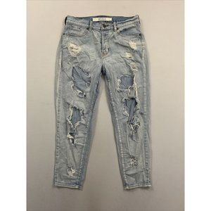 Melville Women's Blue Distressed Skinny Fit Jeans